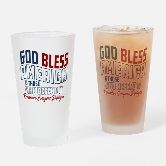Army God Bless America Drinking Glass