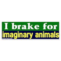 Brake - Imaginary Animals Bumper Bumper Sticker