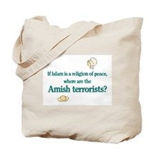 Amish Terrorists Tote Bag
