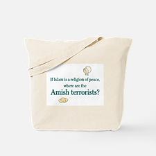 Amish Terrorists Tote Bag
