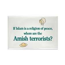 Amish Terrorists Rectangle Magnet