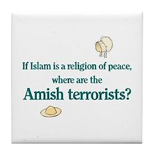 Amish Terrorists Tile Coaster