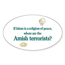 Amish Terrorists Oval Decal