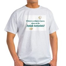 Amish Terrorists Ash Grey T-Shirt