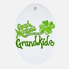 Grand Marshals Grandkids Ornament (Oval)