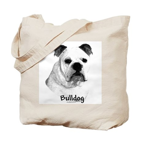 Bulldog Charcoal Tote Bag