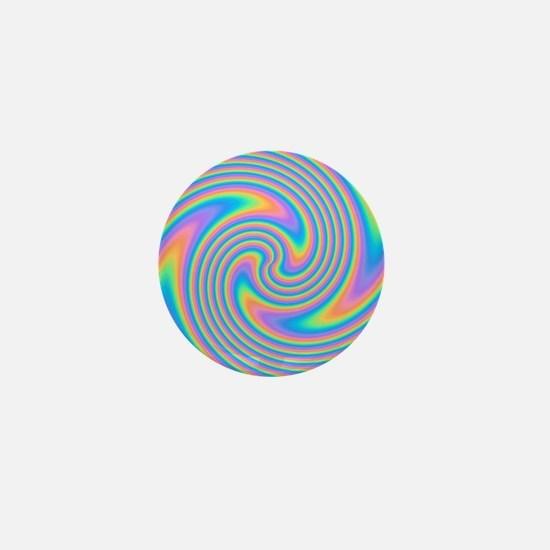 Colorful Swirl Design. Mini Button (100 pack)