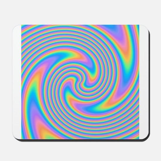 Colorful Swirl Design. Mousepad