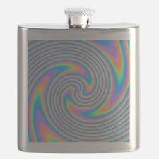 Colorful Swirl Design. Flask
