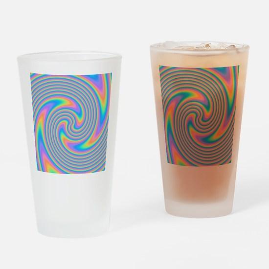Colorful Swirl Design. Drinking Glass