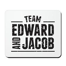 Team Edward and Jacob Mousepad