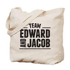Team Edward and Jacob Tote Bag