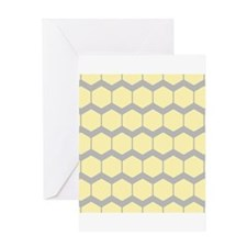 Yellow and Gray Pattern. Greeting Card
