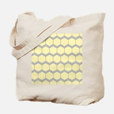 Yellow and Gray Pattern. Tote Bag