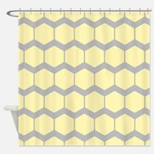 Yellow and Gray Pattern. Shower Curtain