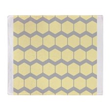 Yellow and Gray Pattern. Throw Blanket
