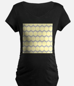 Yellow and Gray Pattern. Maternity T-Shirt