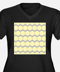 Yellow and Gray Pattern. Plus Size T-Shirt