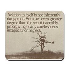 "WWI ""Plane in a Tree"" Mousepad"