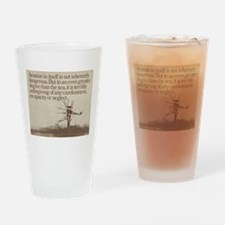 """WWI """"Plane in a Tree"""" Drinking Glass"""