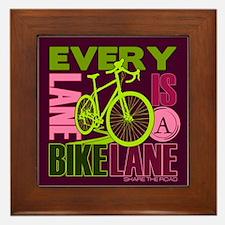 Every Lane Is A Bike Lane Framed Tile