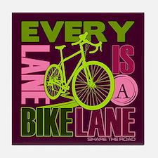 Every Lane Is A Bike Lane Tile Coaster
