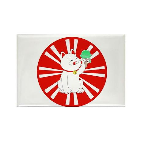 Maneki Neko Tokyo Cat Rectangle Magnet
