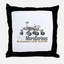I AM Mars Curious Throw Pillow