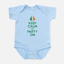 Keep Calm And Party On Irish Flag Shamrock Body Su