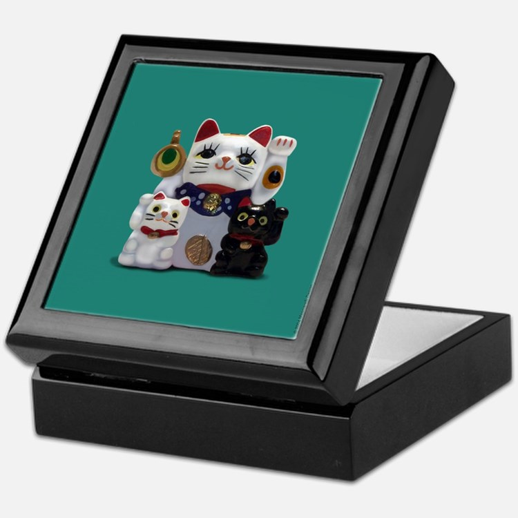 Japanese Fortune Cat Keepsake Box Keepsake Box
