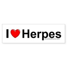 Herpes Bumper Sticker