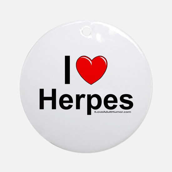 Herpes Ornament (Round)