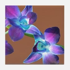 Cute Orchid photography Tile Coaster