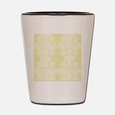 Yellow Damask Shot Glass