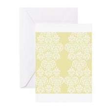 Yellow Damask Greeting Cards (Pk of 20)