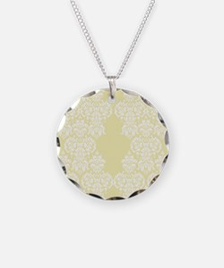 Yellow Damask Necklace