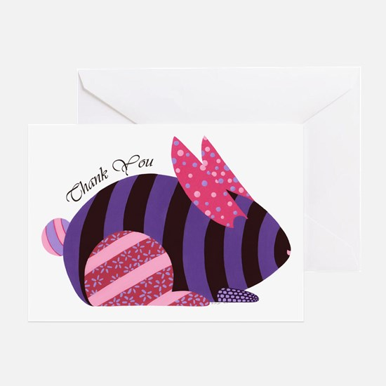 Rabbit Thank You Greeting Card