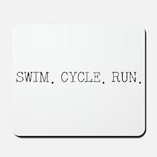 Swim Cycle Run Mousepad