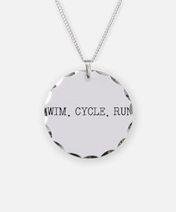 Swim Cycle Run Necklace