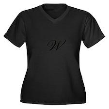 Bickham Script Monogram W Plus Size T-Shirt