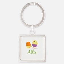 Easter Chick Allie Square Keychain