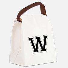 Collegiate Monogram W Canvas Lunch Bag