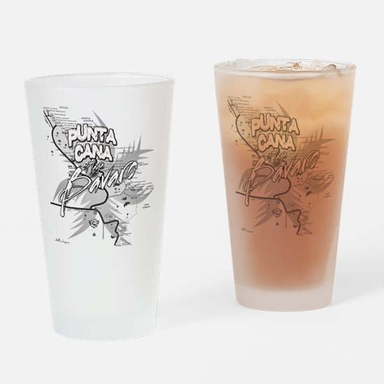 Punta Cana Bavaro Map Drinking Glass