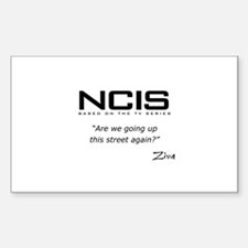 NCIS Ziva David Up the Street Sticker (Rectangle)