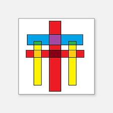 """The Crucifixion Square Sticker 3"""" x 3"""""""