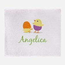 Easter Chick Angelica Throw Blanket