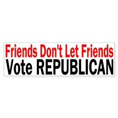 Friends Vote Republican Bumper Bumper Sticker
