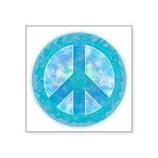 Peace Sign Blue Sticker
