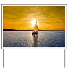 Sailing into the sunset Yard Sign