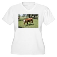 Hereford Calf at the LBJ Ranch Plus Size T-Shirt
